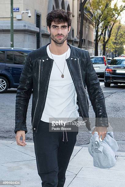 Model Juan Betancourt is seen on December 1 2015 in Madrid Spain
