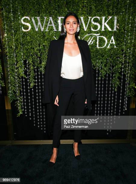 Model Juana Burga Cervera attends the 2018 CFDA Fashion Awards' Swarovski Award For Emerging Talent Nominee Cocktail Party at DUMBO House on May 16...