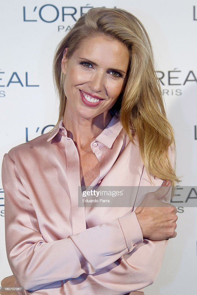 Model Judit Masco attends the L'Oreal Awards photocall during the Mercedes Benz Fashion Week Madrid Spring/Summer 2014 on September 16, 2013 in Madrid, Spain.