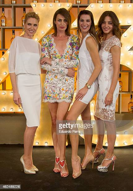 Model Judit Masco model Nieves Alvarez Model Laura Sanchez and Jose Toledo attend Licor 43 new bottle presentation at Cristal Tower on January 29...
