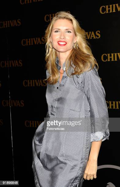 Model Judith Masco attends the 'Smoking Chivas Code' fashion show at the Chivas Studio on October 14 2009 in Madrid Spain