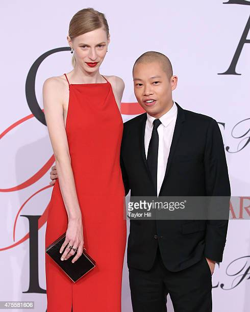 Model Julia Nobis and Jason Wu attend the 2015 CFDA Awards at Alice Tully Hall at Lincoln Center on June 1 2015 in New York City