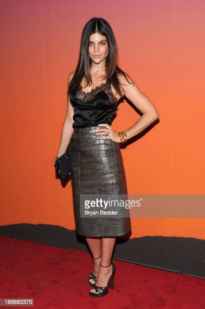 Model Julia Restoin Roitfeld arrives for the Whitney Museum of American Art Gala & Studio Party 2013 Supported By Louis Vuitton at Skylight at...
