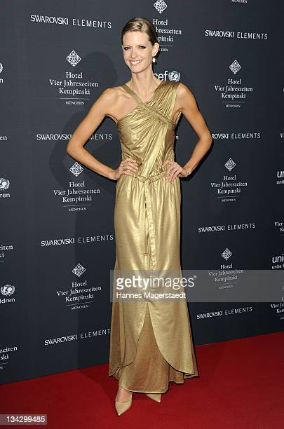 Model Julia Stegner attends Celebrities Read For UNICEF Charity Event at Hotel Vier Jahreszeiten on November 30 2011 in Munich Germany