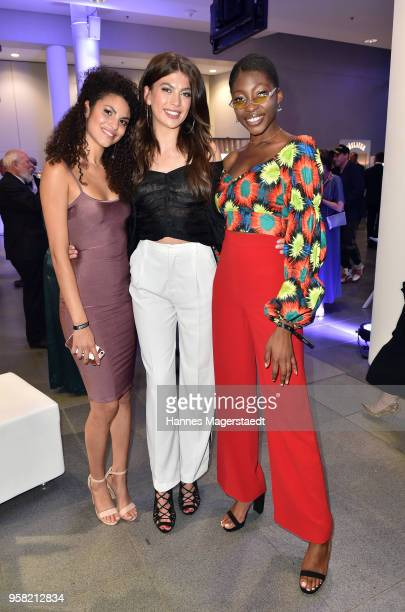 Model Julianna Christina and Toni attend the GreenTec Awards 2018 at ICM Munich on May 13 2018 in Munich Germany