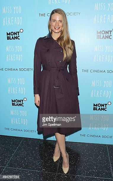 Model Julie Henderson attends Montblanc The Cinema Society host a screening of Roadside Attractions Lionsgate's New York premiere of Miss You Already...