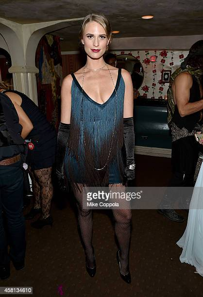 Model Julie Henderson attends The Blood Ball to benefit Delete Blood Cancer at The Box on October 30 2014 in New York City