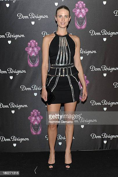 Model Julie Henderson attends the Dom Perignon And Jeff Koons Rose Vintage 2003 Launch Celebration at 711 Greenwich Street on September 10 2013 in...