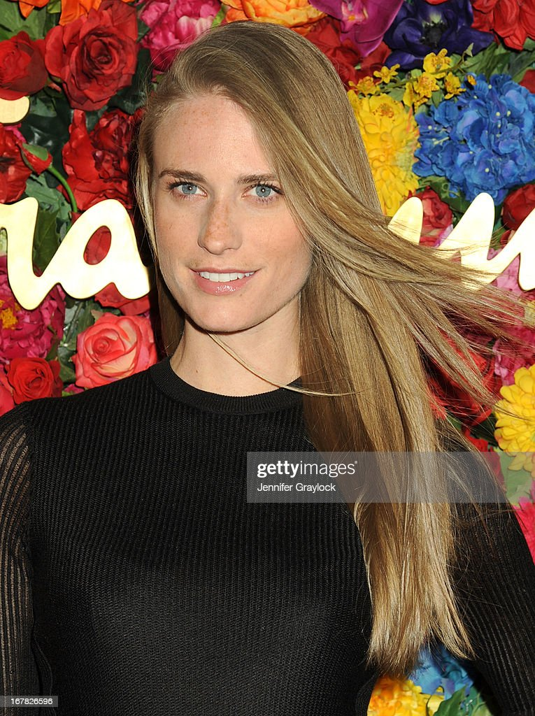 Model Julie Henderson attends the Ferragamo Celebrates The Launch Of L'Icona Highlighting The 35th Anniversary Of Vara at The McKittrick Hotel, Home of Sleep No More on April 30, 2013 in New York City.