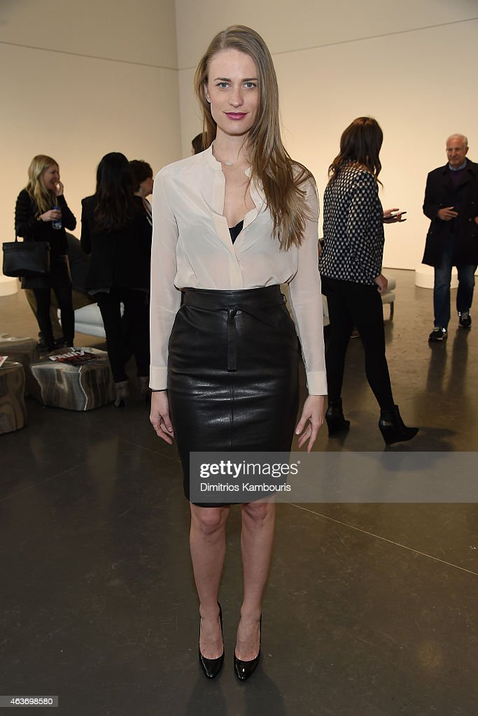 Model Julie Henderson attends the Rachel Zoe presentation during Mercedes-Benz Fashion Week Fall 2015 at Affirmation Arts on February 17, 2015 in New York City.