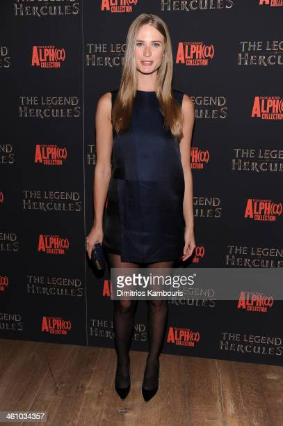 Model Julie Henderson attends the The Legend Of Hercules premiere at the Crosby Street Hotel on January 6 2014 in New York City