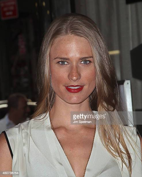 Model Julie Henderson attends the Yves Saint Laurent Couture Palette The Cinema Society premiere of The Weinstein Company's Yves Saint Laurent at...