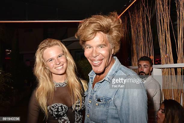 Model Julie Jardon and Igor Bogdanov attend the DJ Mitch LJ vs Time Party In SaintTropez on August 18 2016 in SaintTropez France