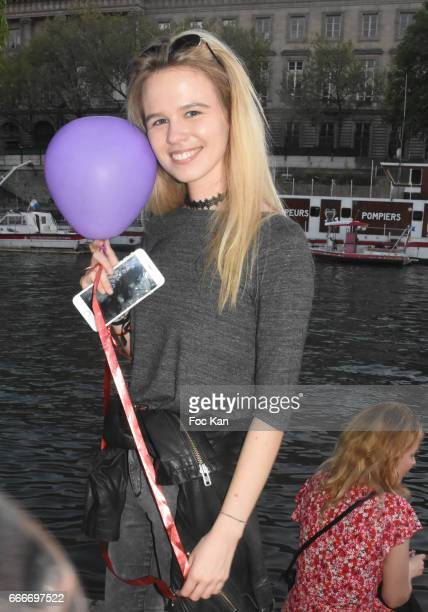 Model Julie Jardon attends Photographer Ko Kok Birthday Party At Le Vert Galant Garden on April 9 2017 in Paris France