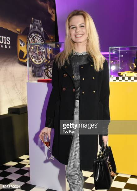 Model Julie Jardon attends the Lamborghini Party at Garage Bellini on December 14 2017 in Puteaux France