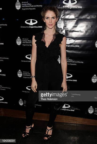 Model Julieta Spina attends Argentina Fashion Show After Party Sponsored by Aeropuertos Argentina 2000 at Kiss & Fly on September 16, 2010 in New...