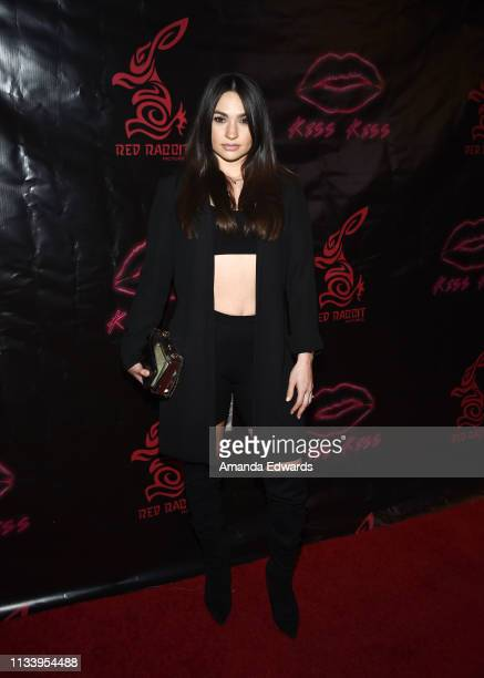 Model Juliette Amorette Romero arrives at the Los Angeles premiere of 'KISS KISS' at the Ahrya Fine Arts Theater by Laemmle on March 05 2019 in...