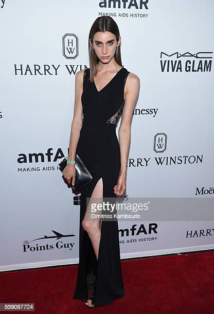 Model Juliette Topalian attends the 7th Annual amfAR Inspiration Gala at Skylight at Moynihan Station on June 9 2016 in New York City