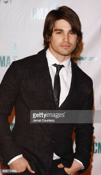 Model Justin Gaston attends the 42nd Annual CMA Awards at the Sommet Center on November 12 2008 in Nashville Tennessee