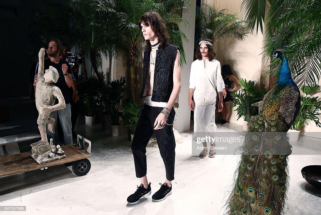 NY: Rochambeau - Backstage - New York Fashion Week: Men's S/S 2017