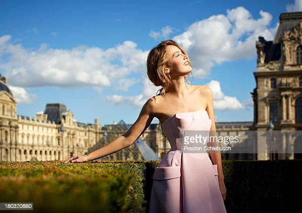 Model Justina Vazgauskaite is photographed for Conde Nast Traveler - Spain on October 4, 2012 in Paris, France. PUBLISHED IMAGE.