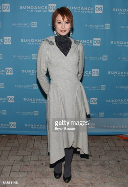 Model Justine Joli attends the premiere of Black Dynamite held at the Library Center Theatre during the 2009 Sundance Film Festival on January 18...