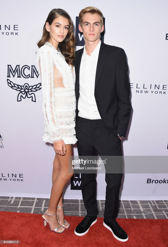 Model Kaia Gerber and Presley Gerber attend the Daily Front Row's Fashion Media Awards at Four Seasons Hotel New York Downtown on September 8, 2017 in New York City.