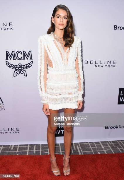 Model Kaia Gerber attends the Daily Front Row's Fashion Media Awards at Four Seasons Hotel New York Downtown on September 8 2017 in New York City