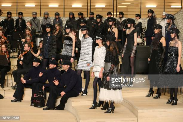 Model Kaia Gerber daughter of Cindy Crawford during the Chanel 'Trombinoscope' collection Metiers d'Art 2017/18 show at Elbphilharmonie on December 6...