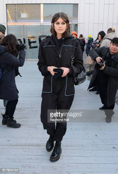 Model Kaia Gerber is seen walking in Soho on February 13 2018 in New York City