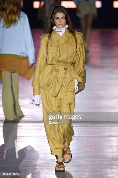 Model Kaia Gerber walks the runway at the Alberta Ferretti show during Milan Fashion Week Spring/Summer 2019 on September 19 2018 in Milan Italy