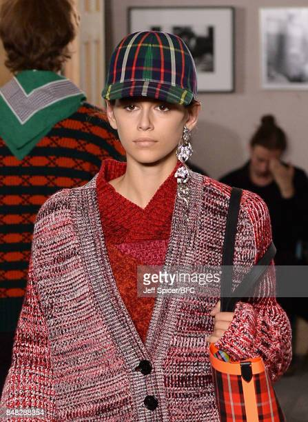 Model Kaia Gerber walks the runway at the Burberry show during London Fashion Week September 2017 on September 16 2017 in London England