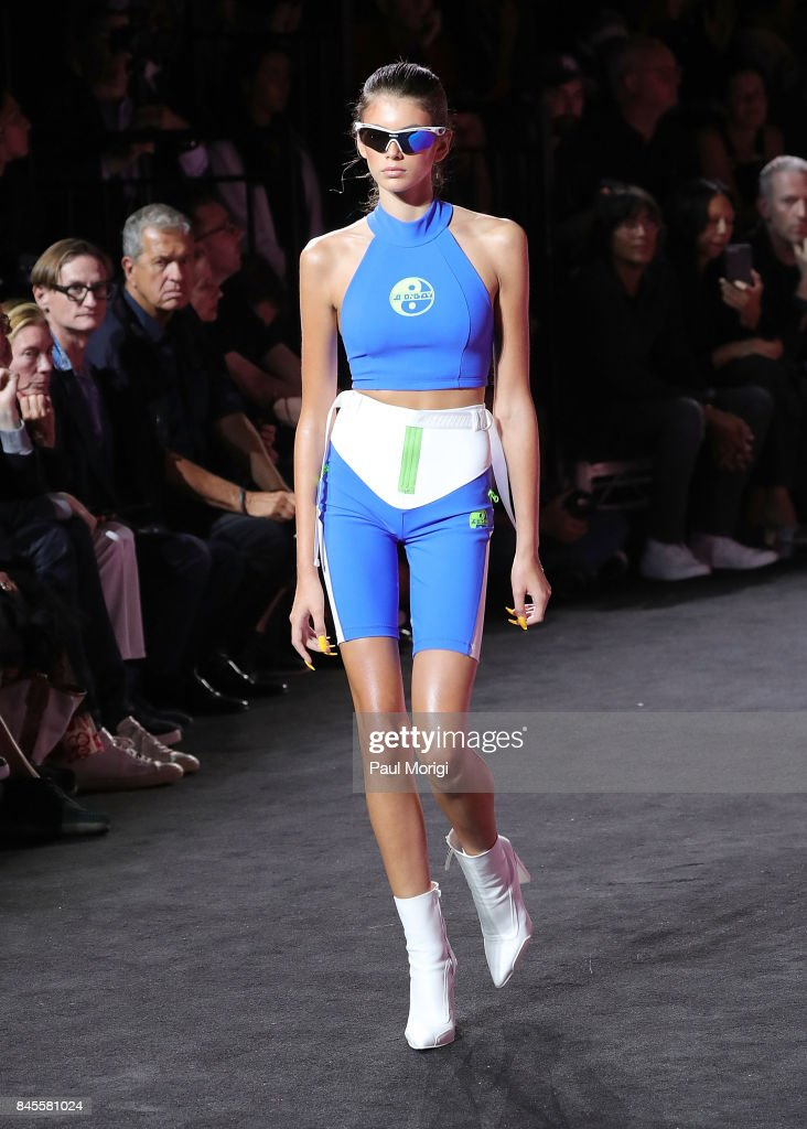 Model Kaia Gerber walks the runway at the Fenty Puma by Rihanna show during New York Fashion Week at the 69th Regiment Armory on September 10, 2017 in New York City.