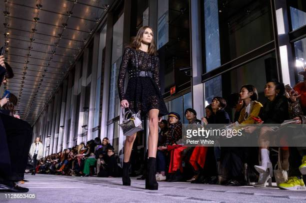 Model Kaia Gerber walks the runway at the Longchamp fashion show during New York Fashion Week on February 09, 2019 in New York City.