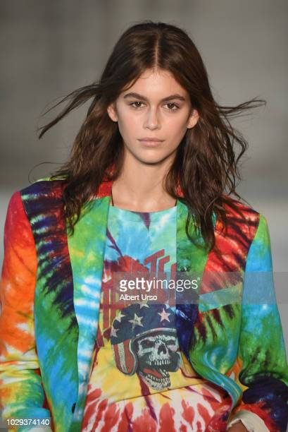 Model Kaia Gerber walks the runway at the R13 show during New York Fashion Week on September 8 2018 in New York City