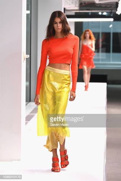 Model Kaia Gerber walks the runway at the Sies Marjan show during New York Fashion Week on September 9, 2018 in New York City.