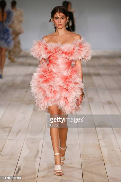 Model Kaia Gerber walks the runway during the Alexander McQueen Womenswear Spring/Summer 2020 show as part of Paris Fashion Week on September 30,...