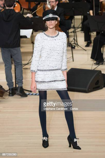 Model Kaia Gerber walks the runway during the Chanel Collection Metiers d'Art Paris Hamburg 2017/18 at the Elbphilharmonie on December 6 2017 in...
