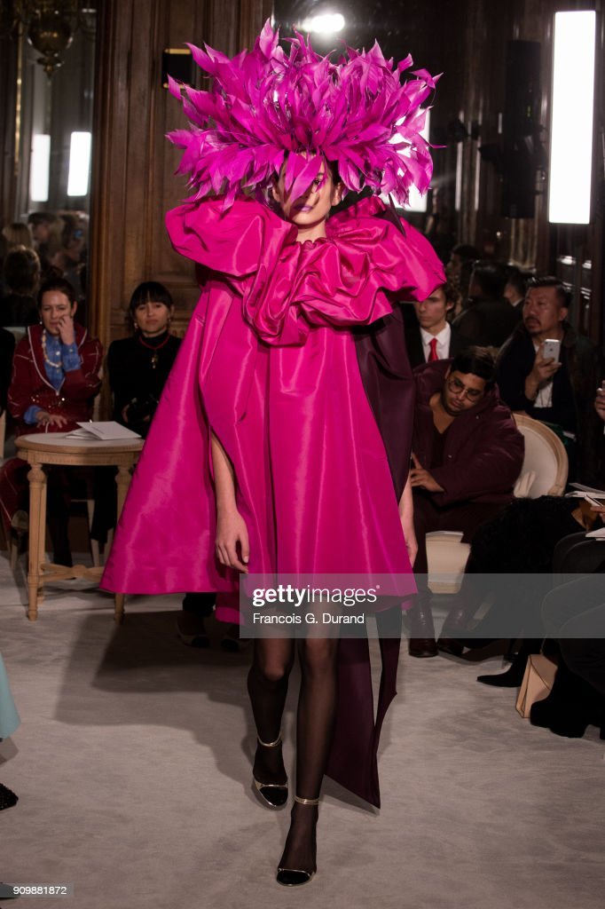 Model Kaia Gerber walks the runway during the Valentino Haute Couture Spring Summer 2018 show as part of Paris Fashion Week on January 24, 2018 in Paris, France.