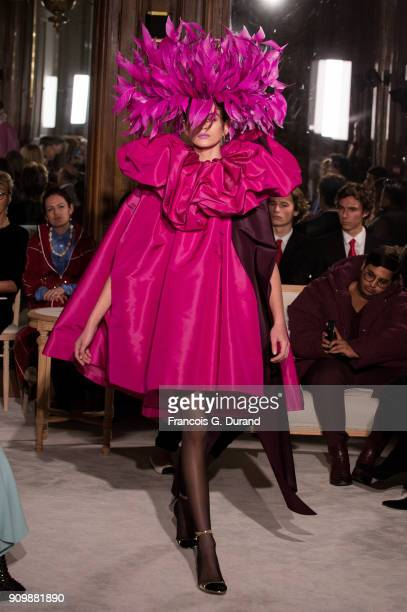 Model Kaia Gerber walks the runway during the Valentino Haute Couture Spring Summer 2018 show as part of Paris Fashion Week on January 24 2018 in...