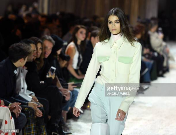 e749422a Model Kaia Gerber walks the runway for Calvin Klein 205W39NYC during New  York Fashion Week at
