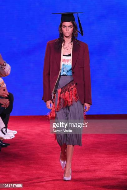 12bb2069 Model Kaia Gerber walks the runway for Calvin Klein Collection during New  York Fashion Week at