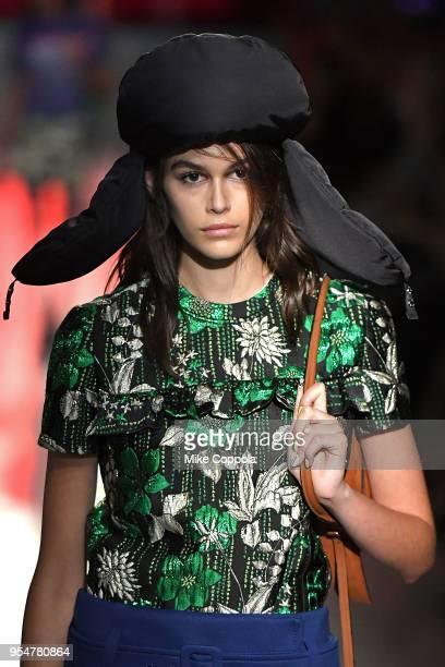 Model Kaia Jordan Gerber walks the runway at the Prada Resort 2019 Fashion Show on May 4 2018 in New York City