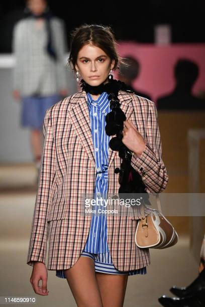 Model Kaia Jordan Gerber walks the runway during the Prada Resort 2020 Collection on May 02 2019 in New York City
