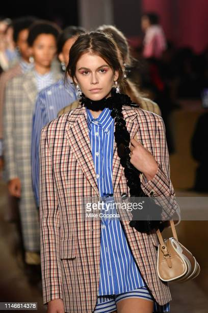 Model Kaia Jordan Gerber walks the runway during the Prada Resort 2020 Collection on May 02, 2019 in New York City.