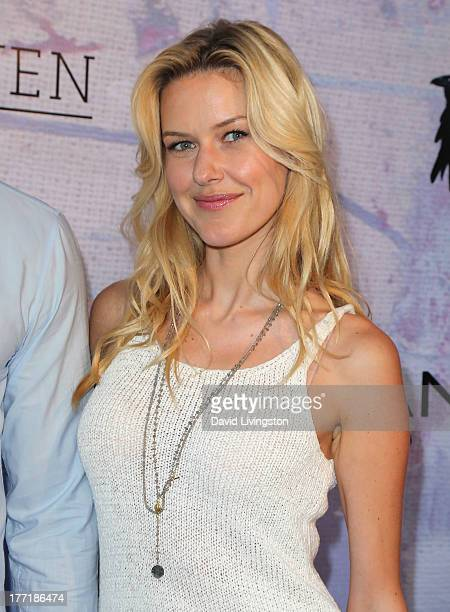 Model Kaitlin Robinson attends the opening night of Billy Zane's Seize The Day Bed solo art exhibition at G Gulla Jonsdottir Design on August 21 2013...