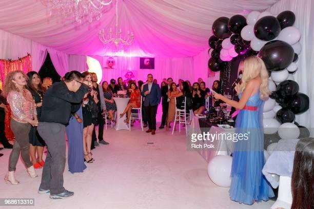 Model Kaki Swid hosts a designer event on June 4 2018 in Beverly Hills California