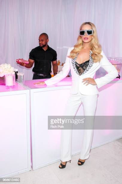 Model Kaki Swid hosts a designer event on June 4 2018 in Beverly Hills California
