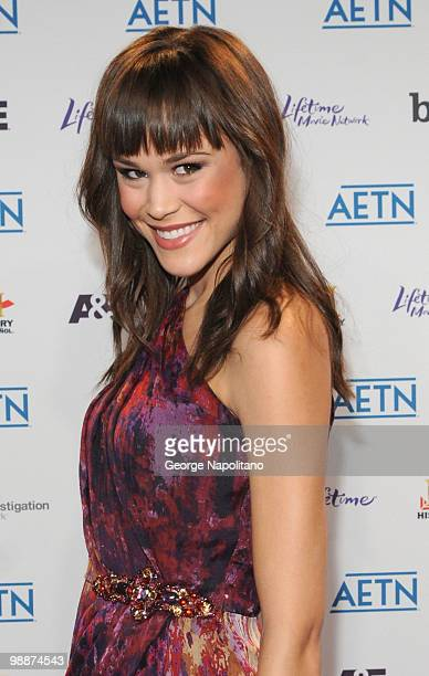 Model Kalyn Hemphill attends the 2010 A&E Upfront at the IAC Building on May 5, 2010 in New York City.
