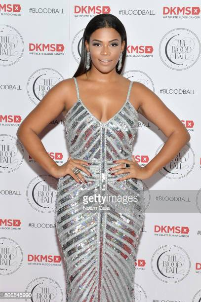 Model Kamie Crawford attends the 2017 DKMS Blood Ball at Spring Place on October 26, 2017 in New York City.